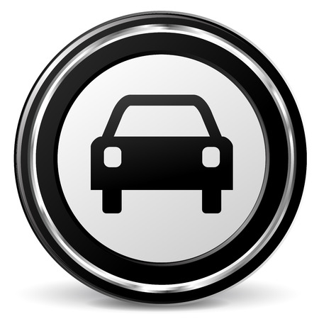illustration of car icon with metal ring Illustration