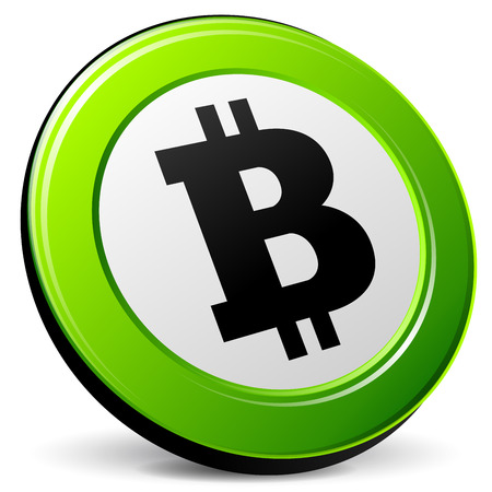 p2p: illustration of bitcoin 3d icon on white background