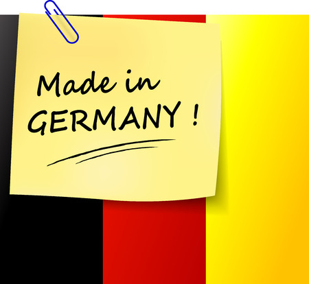 made in germany: illustration of made in germany paper sign