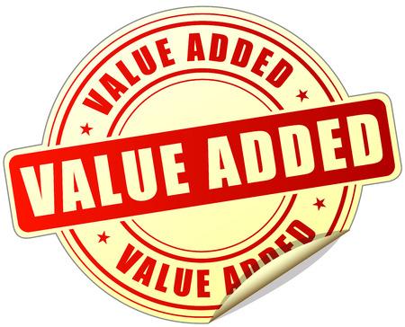illustration of value added label design red icon Ilustração