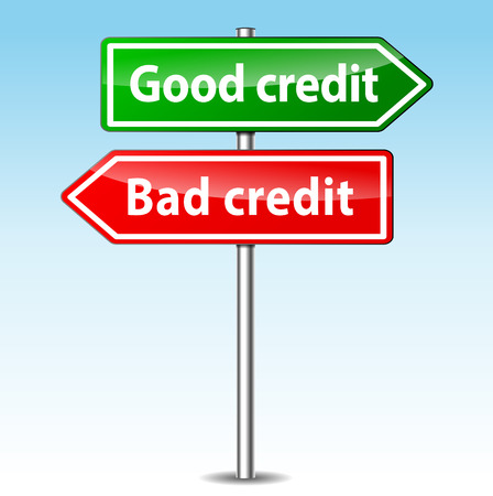 good and bad: illustration of good and bad credit directions