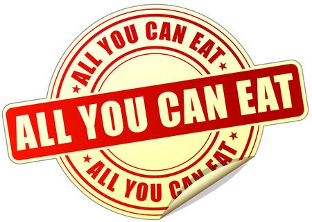 tu puedes: ejemplo de todo lo que pueda comer pegatina