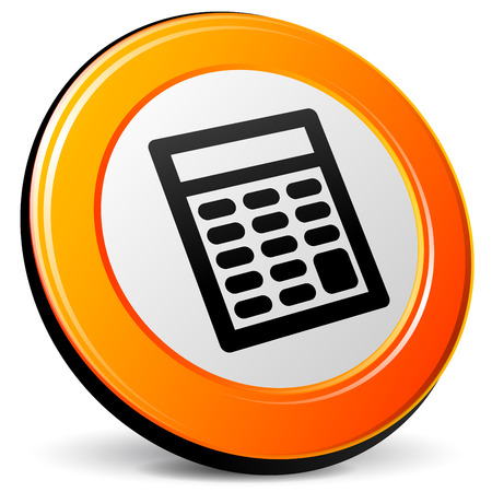 accounting logo: illustration of calculator 3d design orange icon