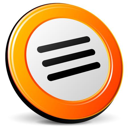 expand: illustration of expand 3d design orange icon Illustration