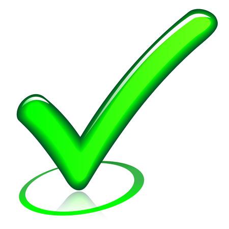 illustration of green design check mark icon