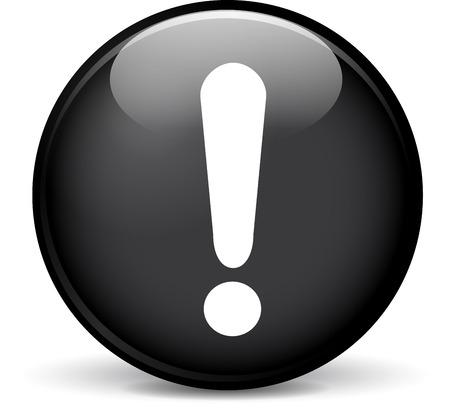 beware: Illustration of beware modern design black sphere icon Illustration