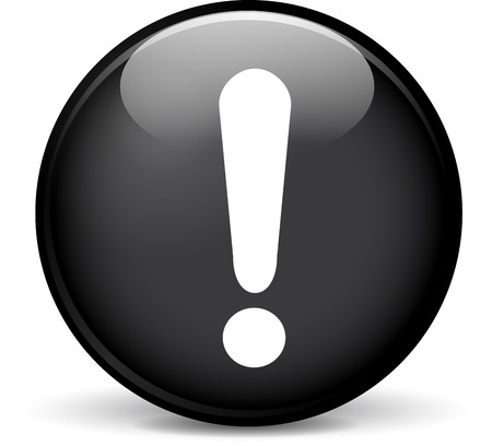 Illustration of beware modern design black sphere icon Illustration