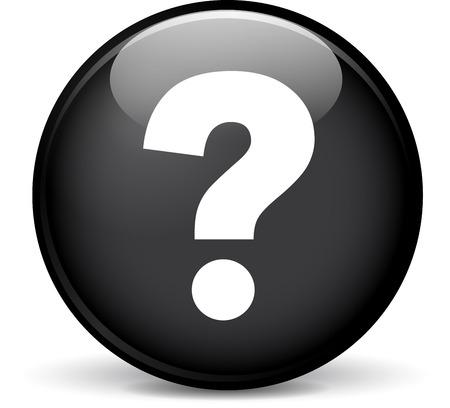 interrogation: Illustration of question modern design black sphere icon