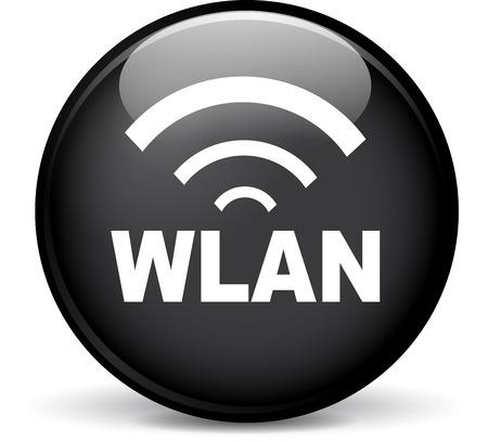 wlan: Illustration of wlan modern design black sphere icon Illustration