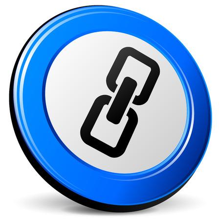 blue design: illustration of chain 3d blue design icon