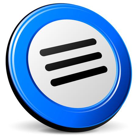 blue design: illustration of expand 3d blue design icon Illustration