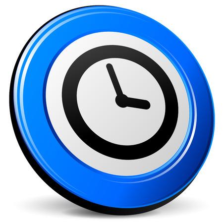 blue design: illustration of time 3d blue design icon