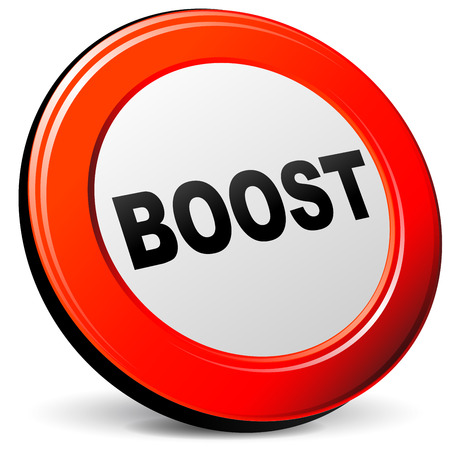 boost: illustration of boost 3d red design icon Illustration