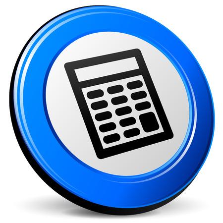 cipher: illustration of calculator 3d blue design icon Illustration