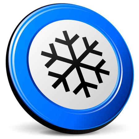 blue design: illustration of ice 3d blue design icon Illustration