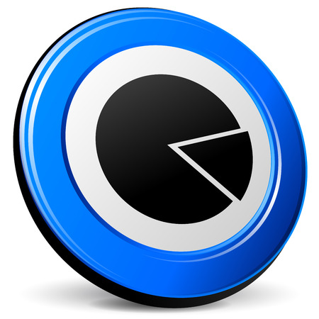 blue design: illustration of pie 3d blue design icon