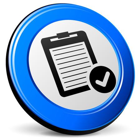 blue design: illustration of report 3d blue design icon