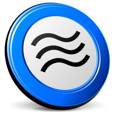 tremor: illustration of tremor 3d blue design icon Illustration