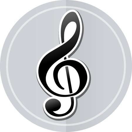 sol: Illustration of music sticker icon simple design Illustration