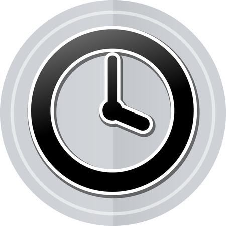 sober: Illustration of time sticker icon simple design