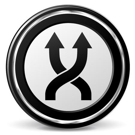 alu: illustration of shuffle black and silver icon