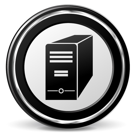 alu: illustration of computer black and silver icon