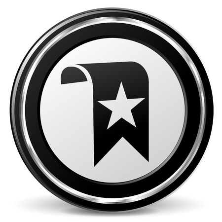 alu: illustration of bookmark black and silver icon