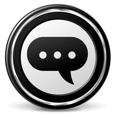 advise: illustration of comment black and silver icon