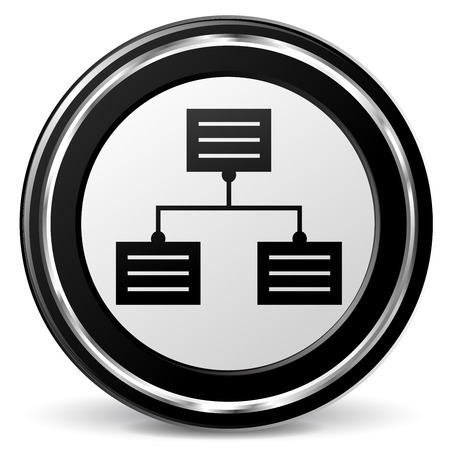 alu: illustration of analytics black and silver icon