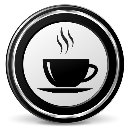 alu: illustration of cup black and silver icon Illustration