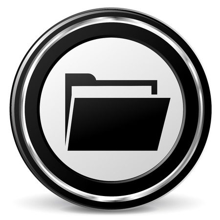 alu: illustration of folder black and silver icon