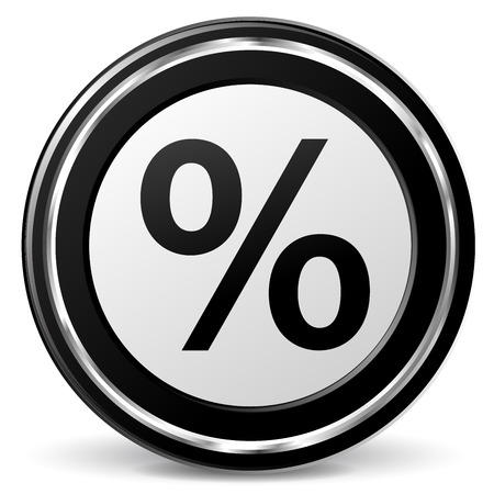 alu: illustration of percentage black and silver icon