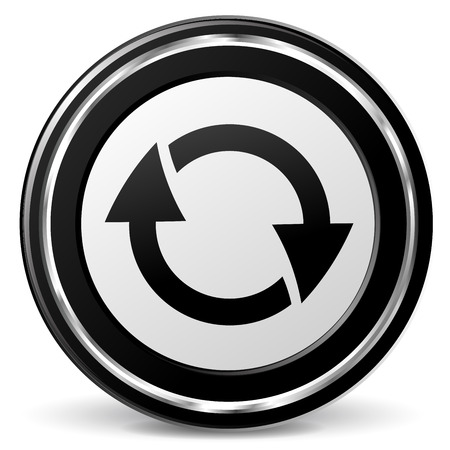 alu: illustration of refresh black and silver icon