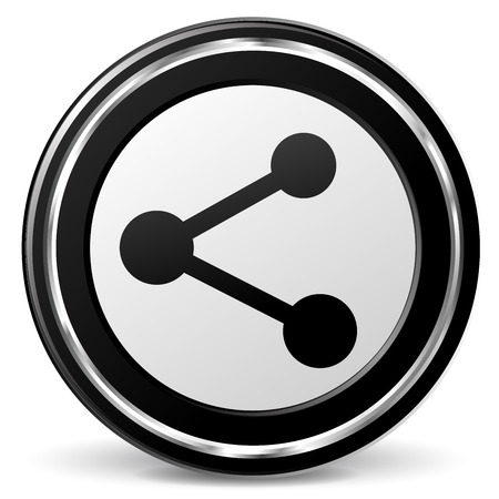 alu: illustration of share black and silver icon
