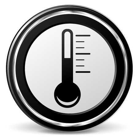 alu: illustration of thermometer black and silver icon