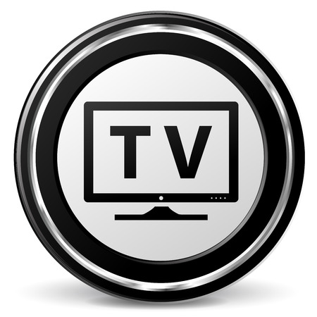 alu: illustration of television black and silver icon