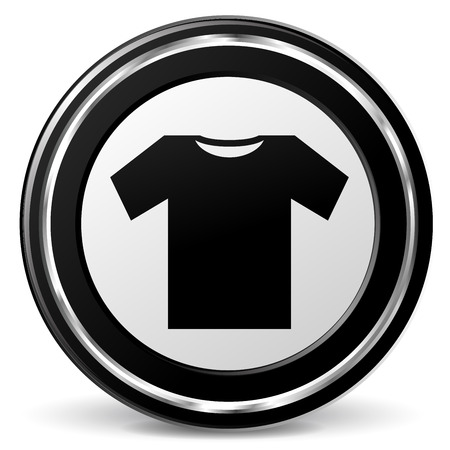 illustration of wear black and silver icon Illustration
