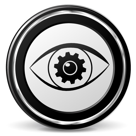 illustration of search eye black and silver icon Illustration