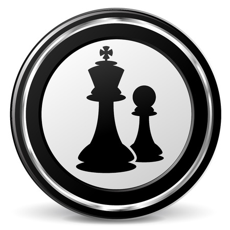 alu: illustration of chess black and silver icon