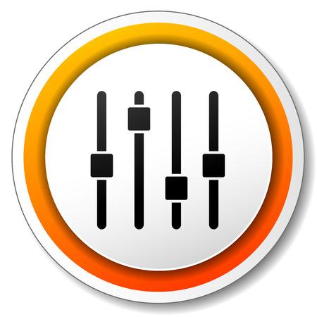 illustration of orange and white icon for adjustment