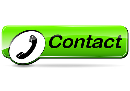illustration of contact design green web button Vectores