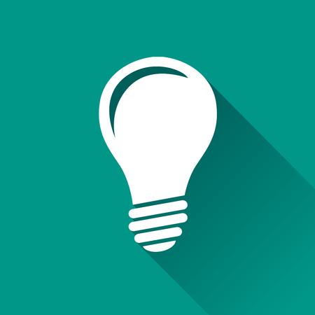 illustration of lightbulb flat design icon isolated
