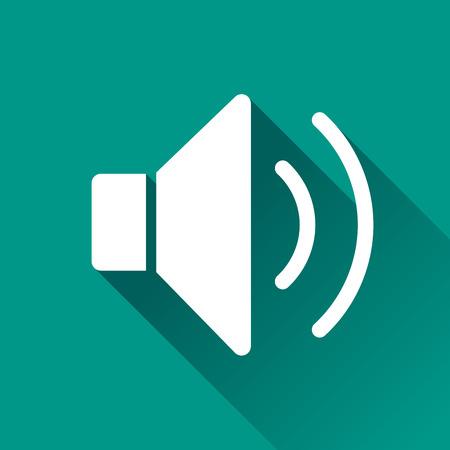 speaker icon: illustration of sound flat design icon isolated