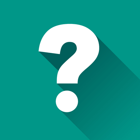 questions: illustration of questions flat design icon isolated