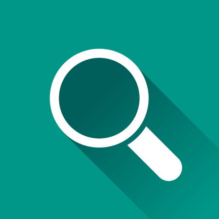 magnifying glass icon: illustration of magnifying flat design icon isolated