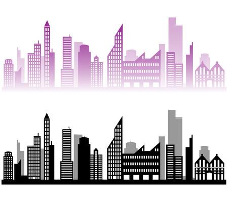 city background: Illustration of vector city landscape background design