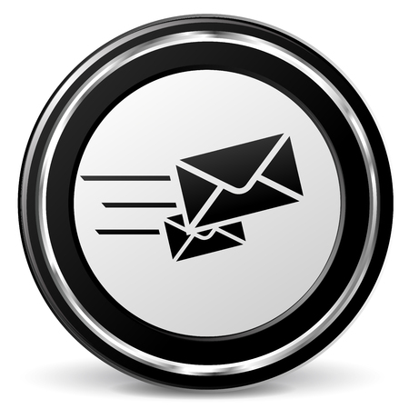 alu: Illustration of rapid mail black and gray icon
