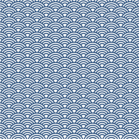 Illustration of navy blue japan pattern background