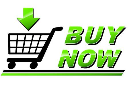 buy icon: Illustration of buy now icon on white background