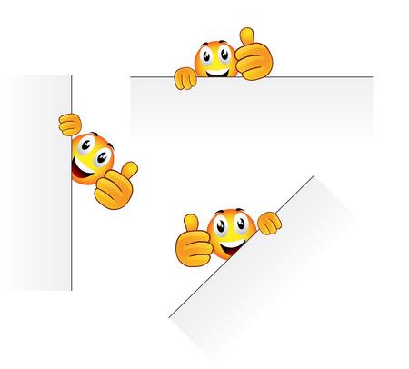 Set van drie vector stripfiguur voor zoals duim
